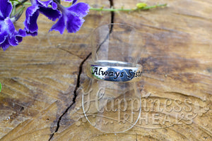 Sterling Silver Ring - Always Sisters, Forever Friends