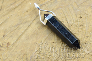Black Tourmaline Double Point Pendant
