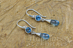Blue Topaz (Swiss) Earrings