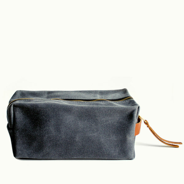 Waxed Cotton Twill Dopp Kit