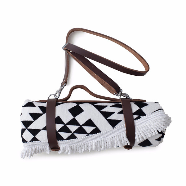 Beach Towel Leather Carrier