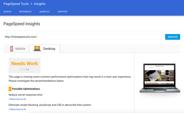 SEO tools, PageSpeed Insights | Shopify Retail blog