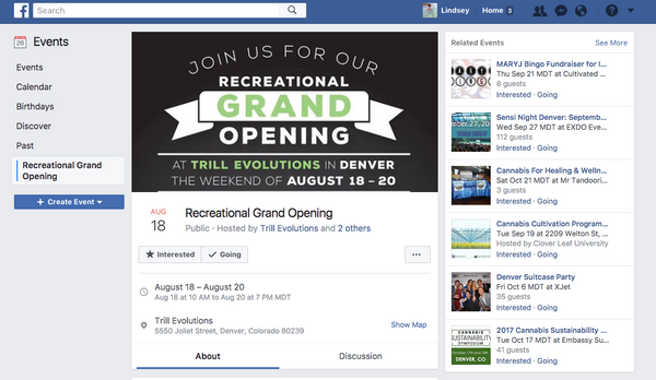 Trill Evolutions Facebook event | Shopify Retail blog