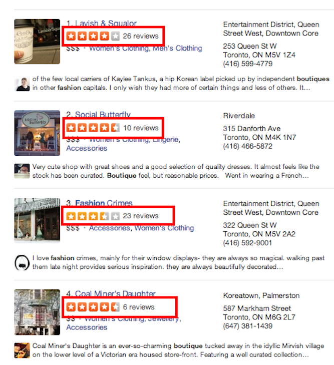 Yelp review examples | Shopify Retail