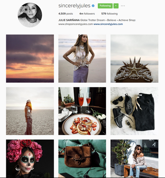 Sincerely Jules, partner with influencers   Shopify Retail blog