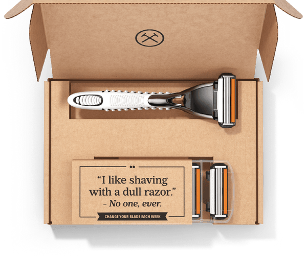 Dollar Shave Club product packaging | Shopify Retail blog