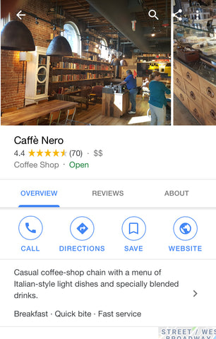 Google near me search result | Shopify Retail blog