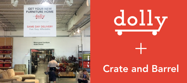 Crate and Barrel and Dolly partnership example | Shopify Retail blog