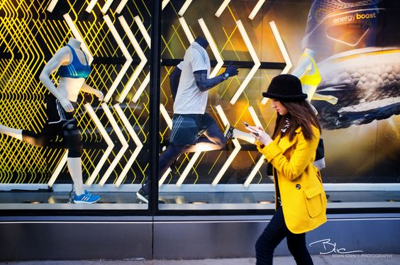 Adidas mannequins, window display | Shopify Retail blog