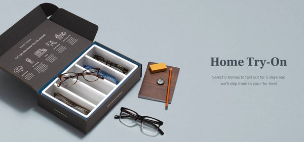 Free samples, Warby Parker Home Try On program | Shopify Retail blog