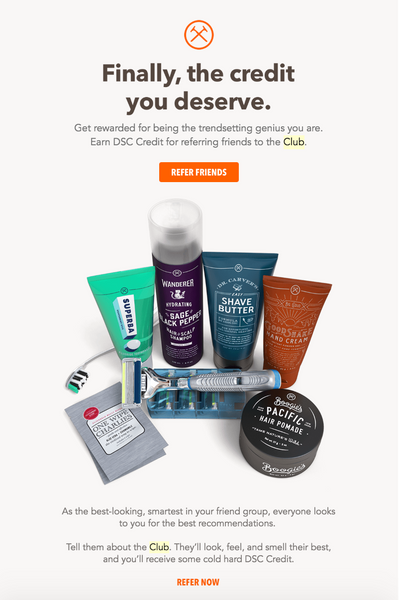 Dollar Shave Club email marketing example | Shopify Retail blog