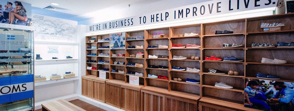 TOMS power wall | Shopify Retail blog