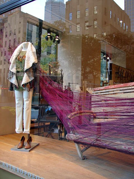 Anthropologie window display | Shopify Retail blog