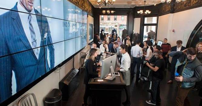 Indochino pop-up store | Shopify Retail blog