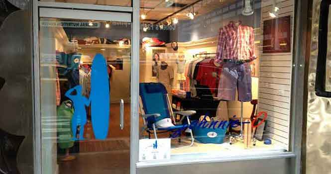 Johnnie-O window display | Shopify Retail