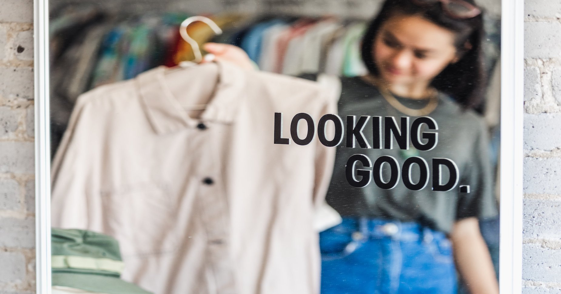 Woman shopping for a new shirt