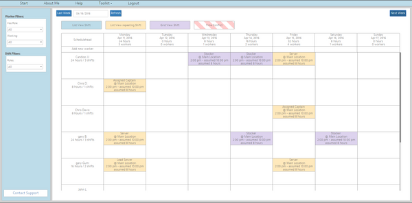 How To Create Retail Staff Schedules Without The Headaches - Retail scheduling template