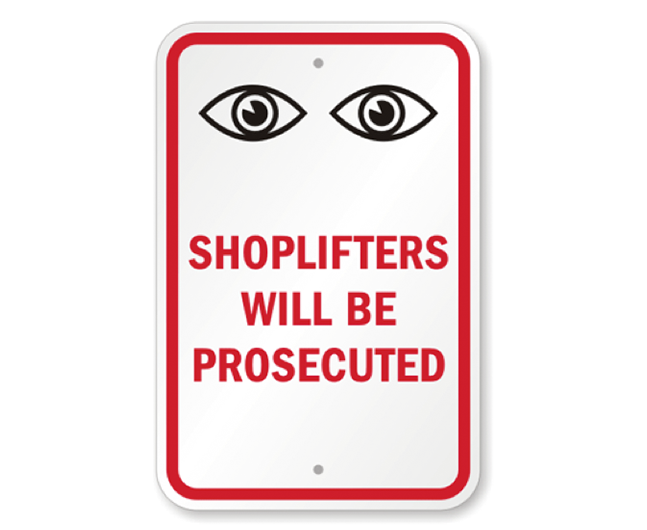 Loss prevention signage | Shopify Retail