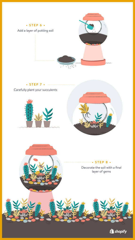 How to make a terrarium: Place your plants | Shopify Retail blog