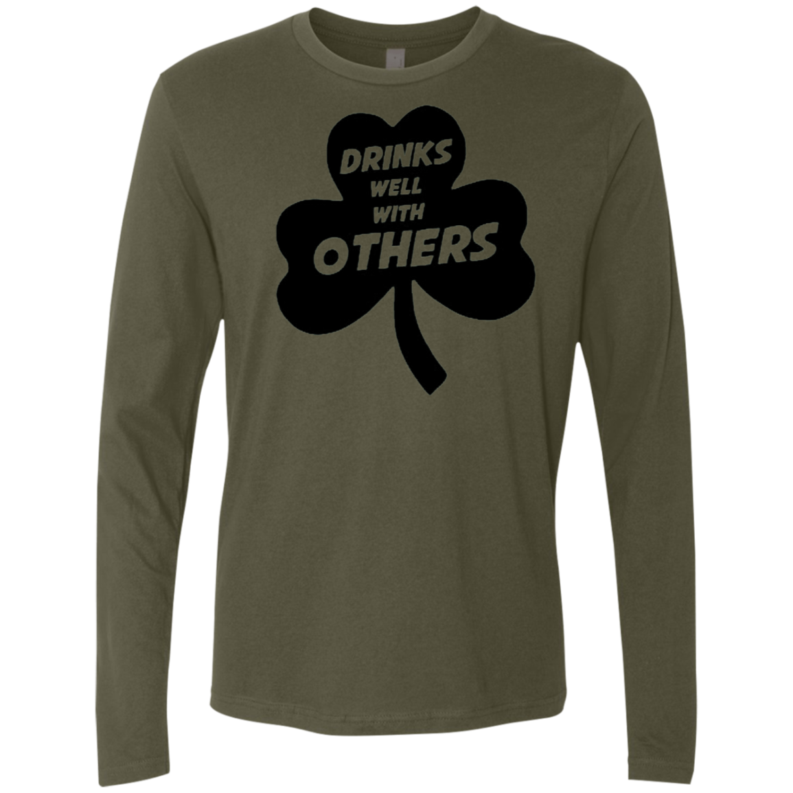 Drinks Well With Others Men's Long Sleeve Tee