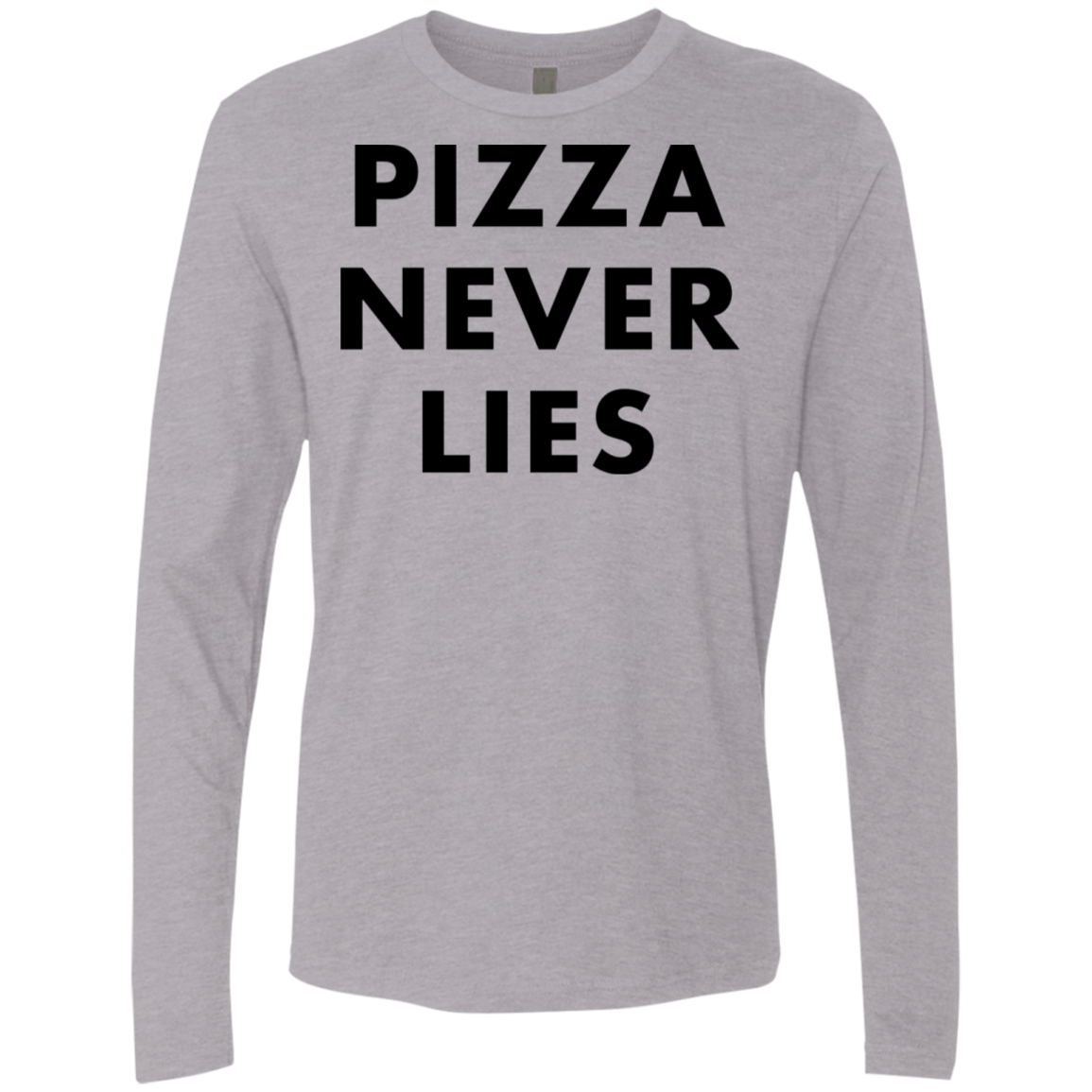 Pizza Never Lies Men's Long Sleeve Tee
