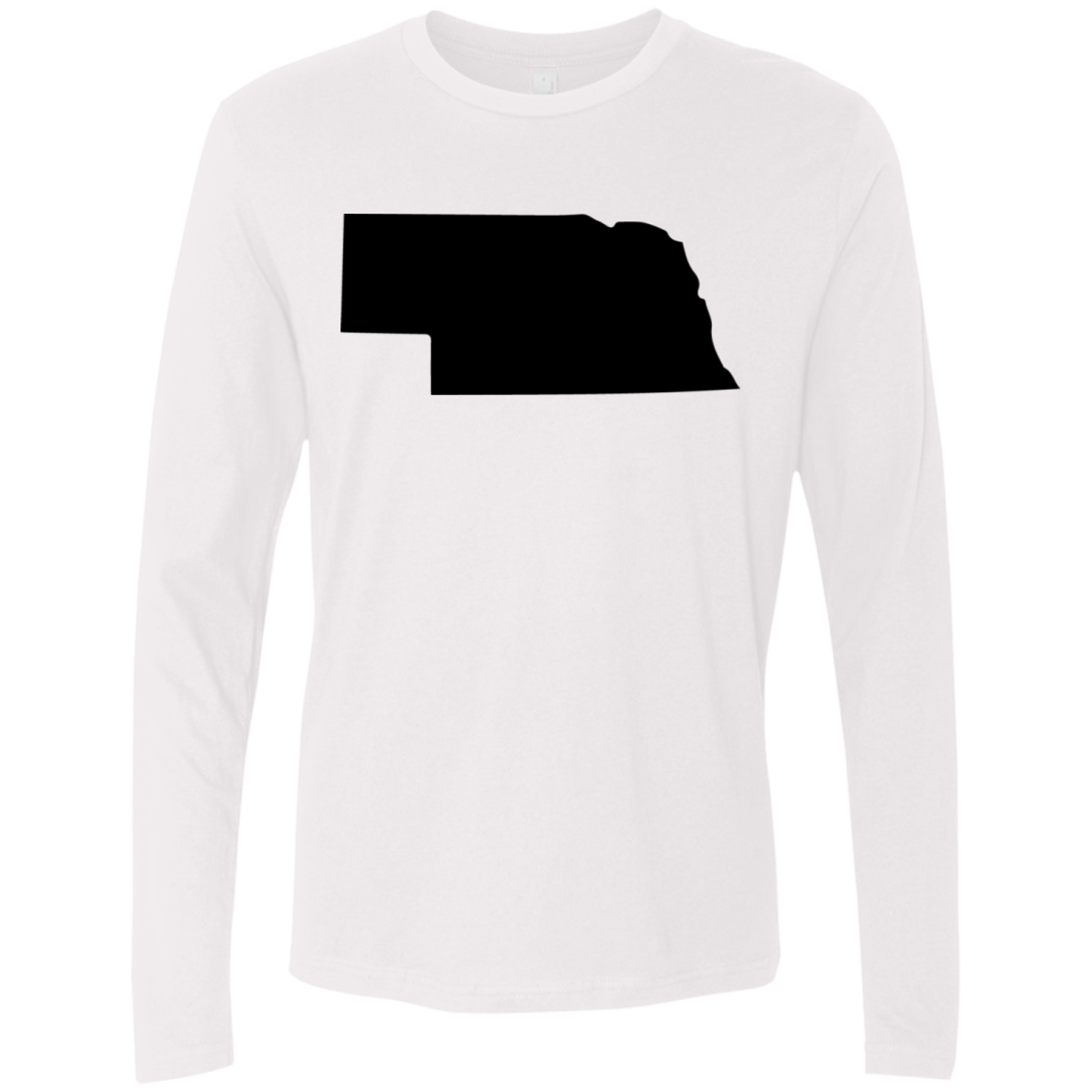 Nebraska Black Men's Long Sleeve Tee