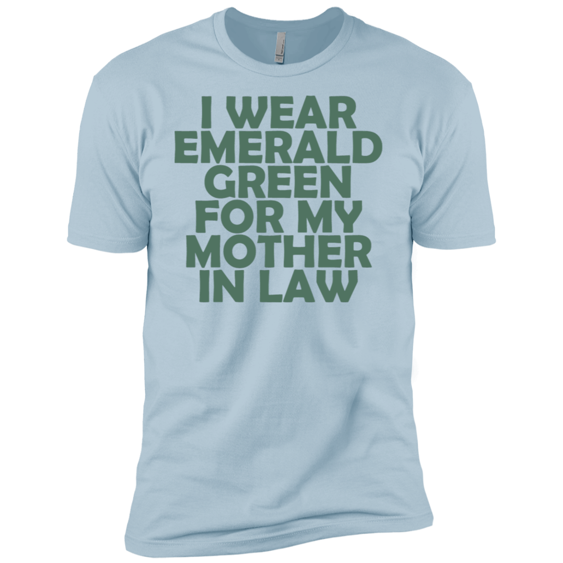 I Wear Emerald For My Mother In Law Men's Classic Tee