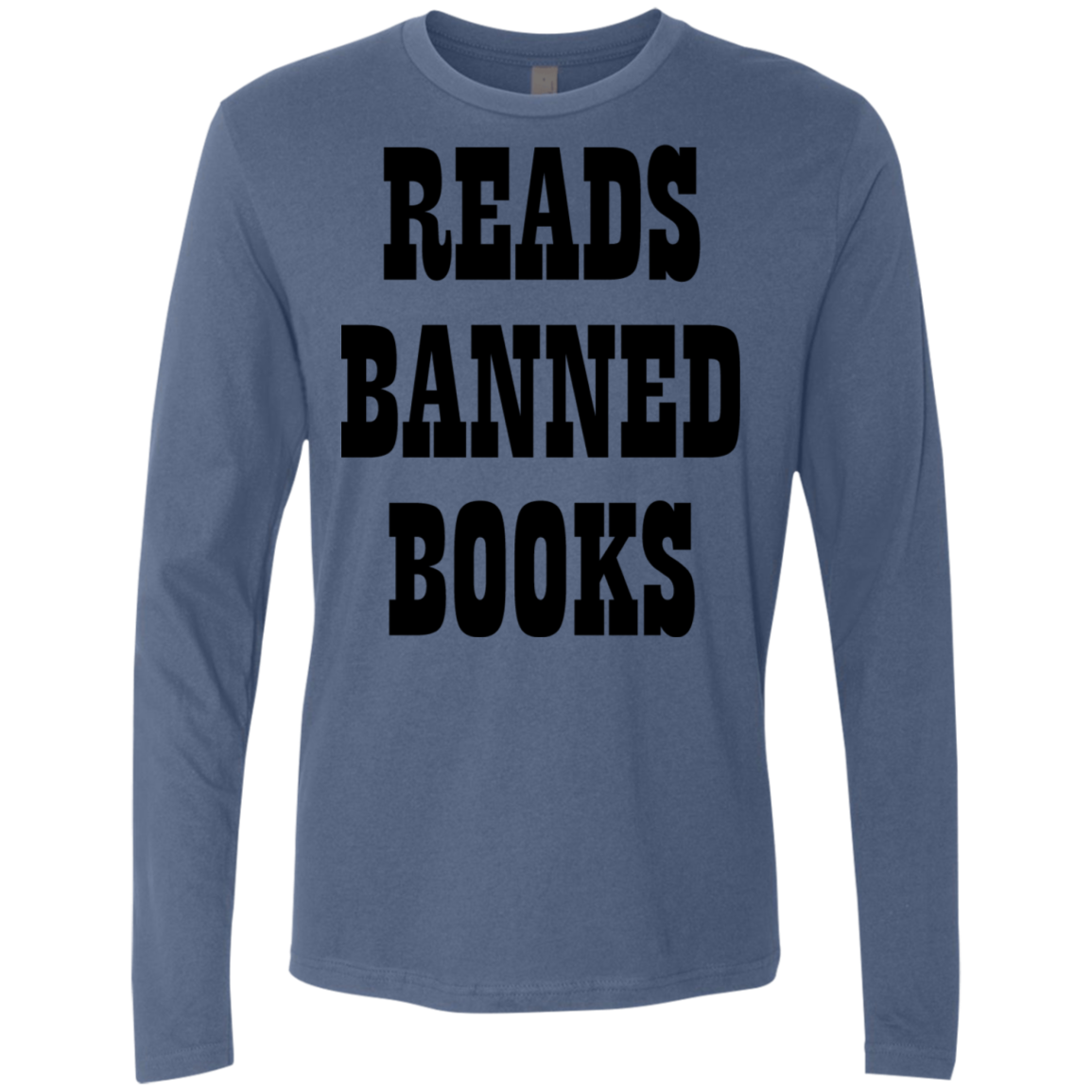 Reads Banned Books Men's Long Sleeve Tee