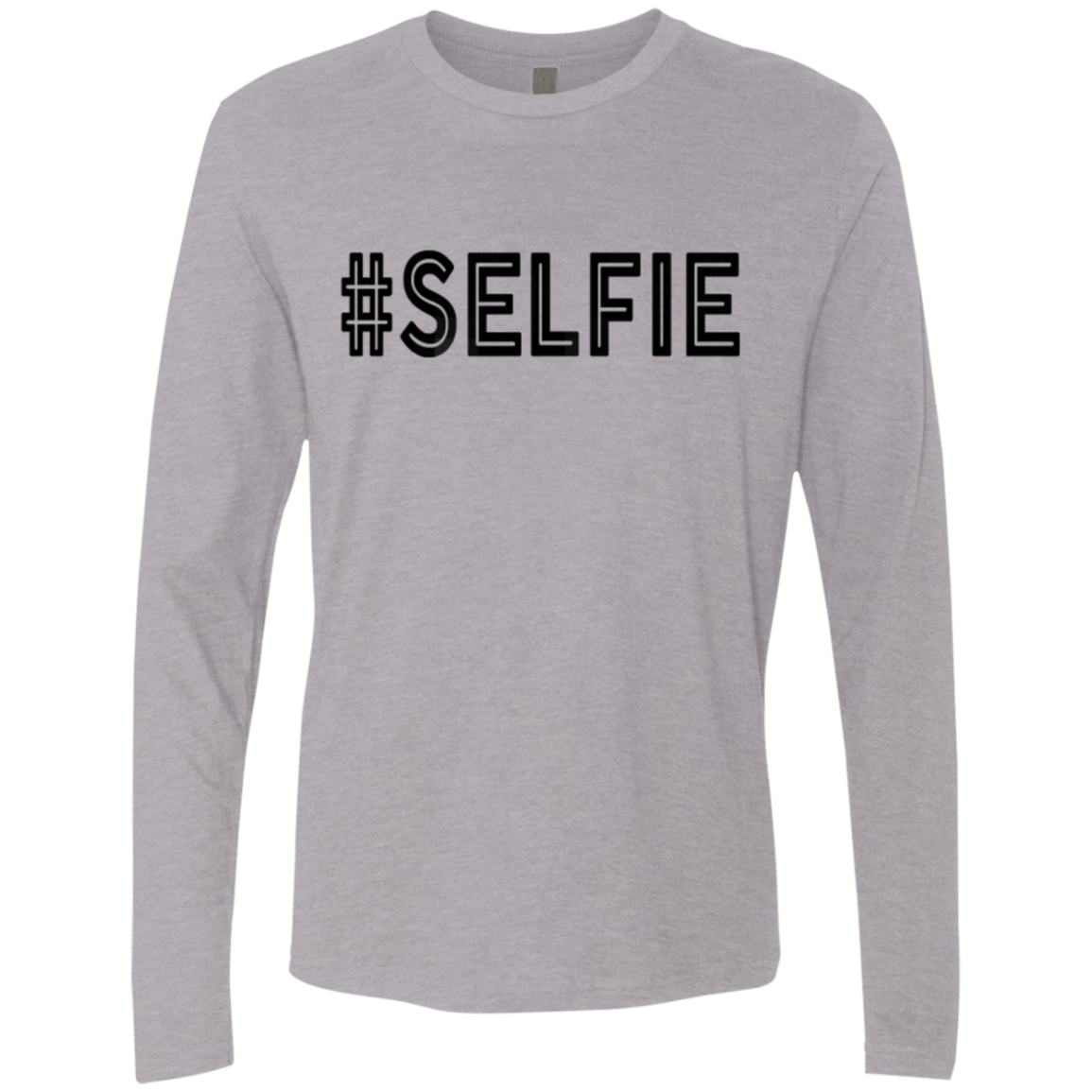 Hashtag Selfie Men's Long Sleeve Tee