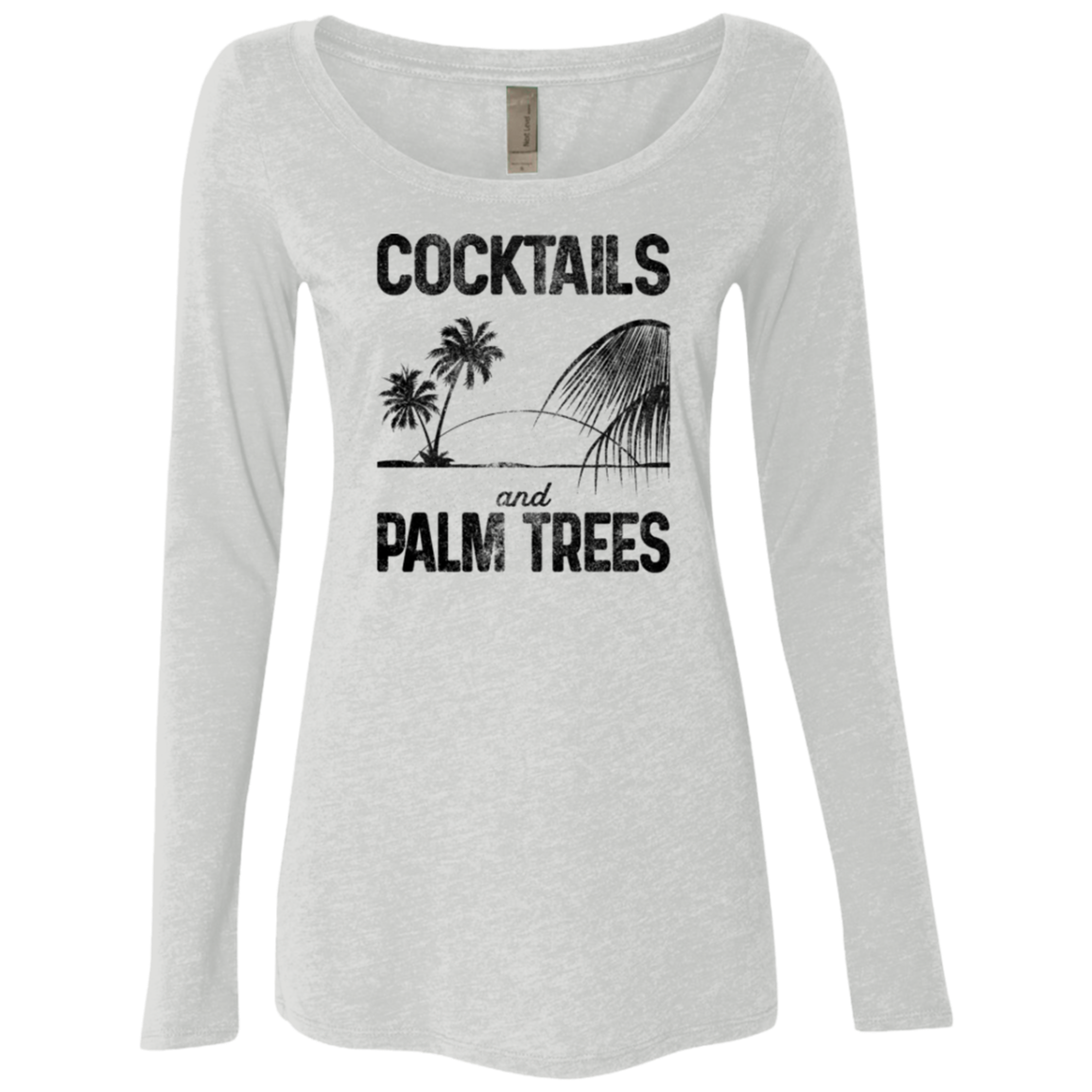 Cocktails and Palm Trees Women's Long Sleeve Tee