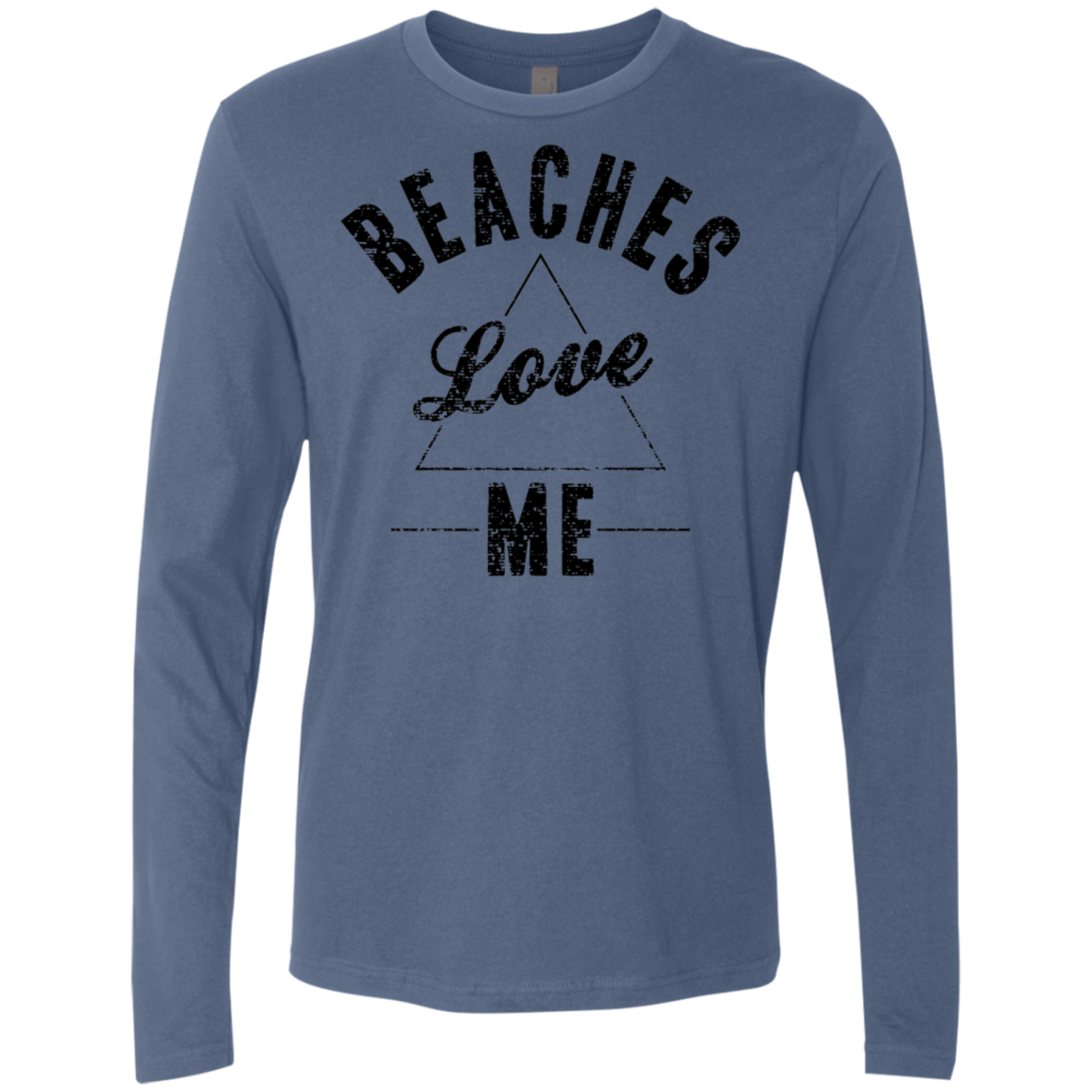 Beaches Love Me Men's Long Sleeve Tee - Trendy Tees