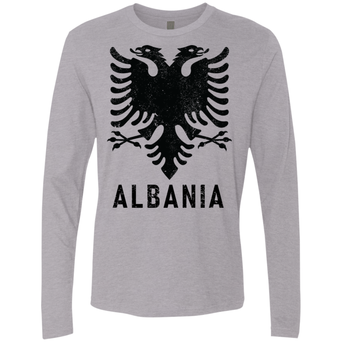 Albania Flag Logo Men's Long Sleeve Tee