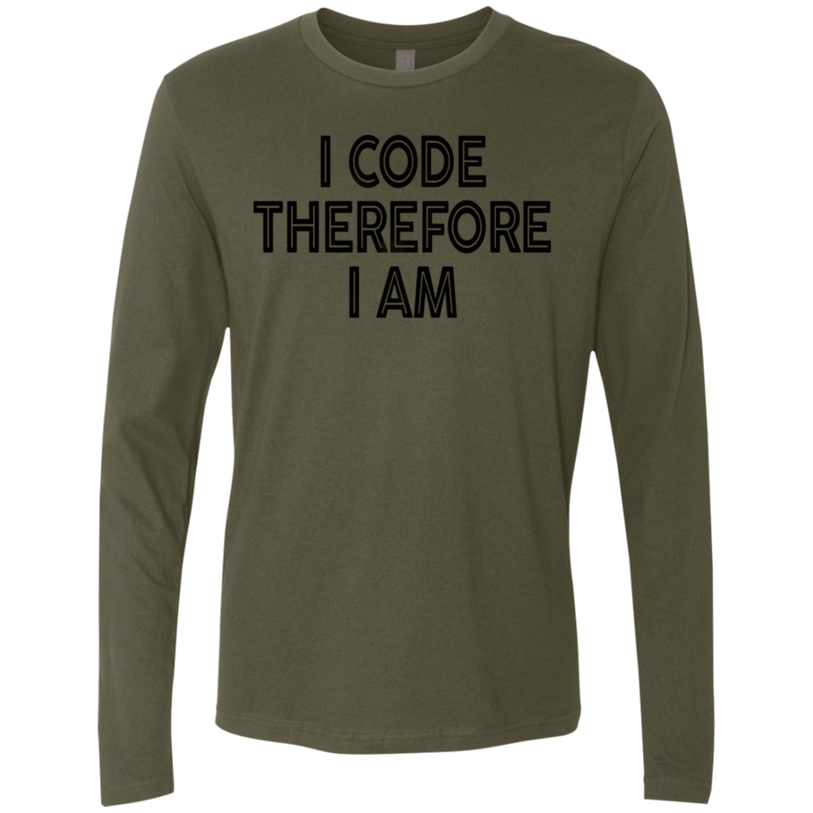 I Code Therfore I Am Men's Long Sleeve Tee