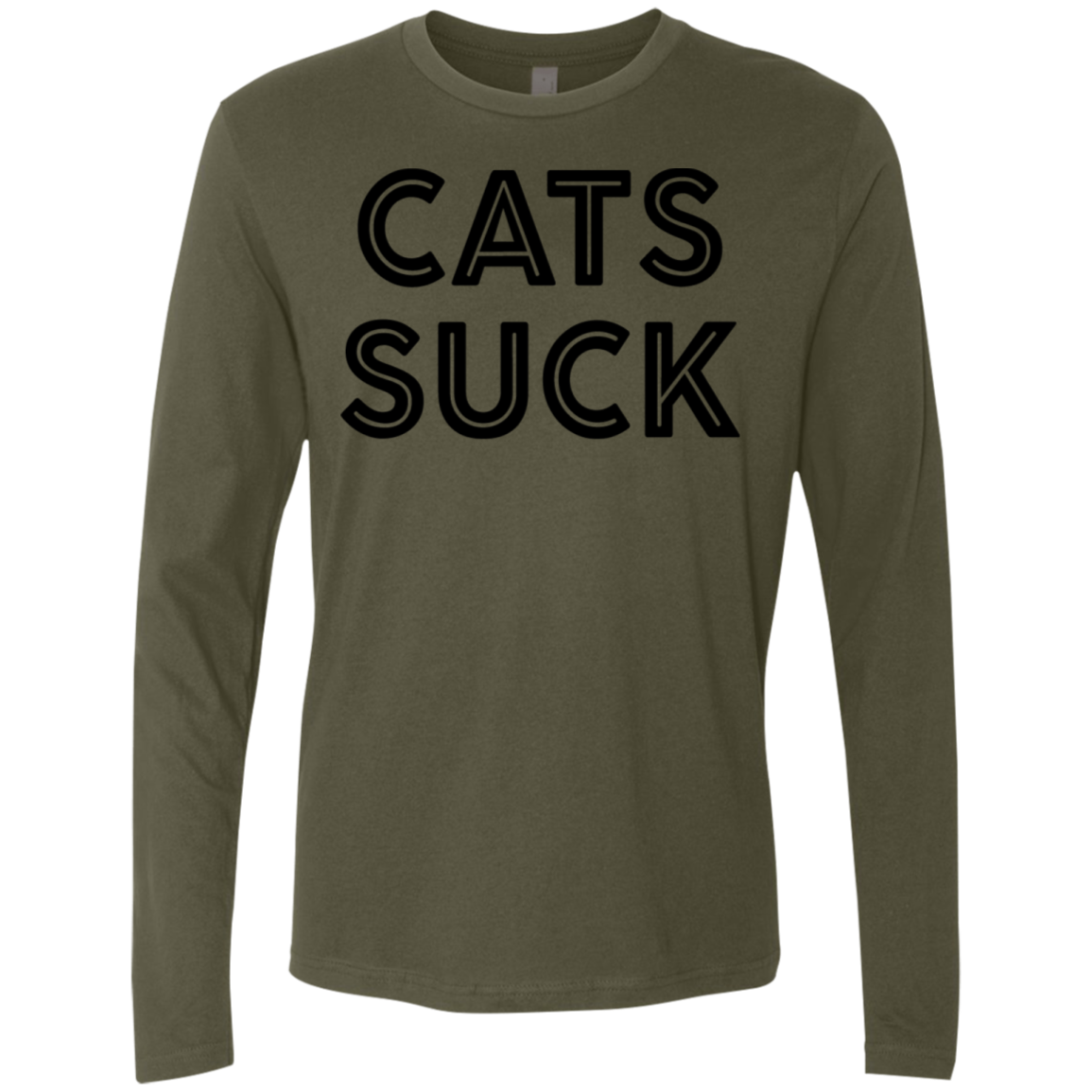 Cats Suck Men's Long Sleeve Tee