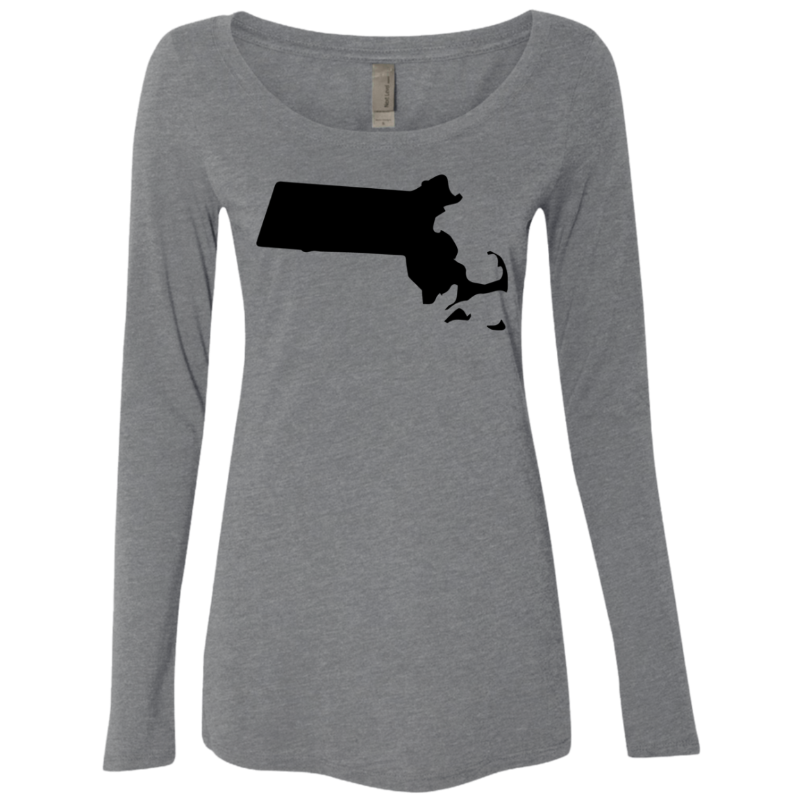 Massachusetts Black Women's Long Sleeve Tee