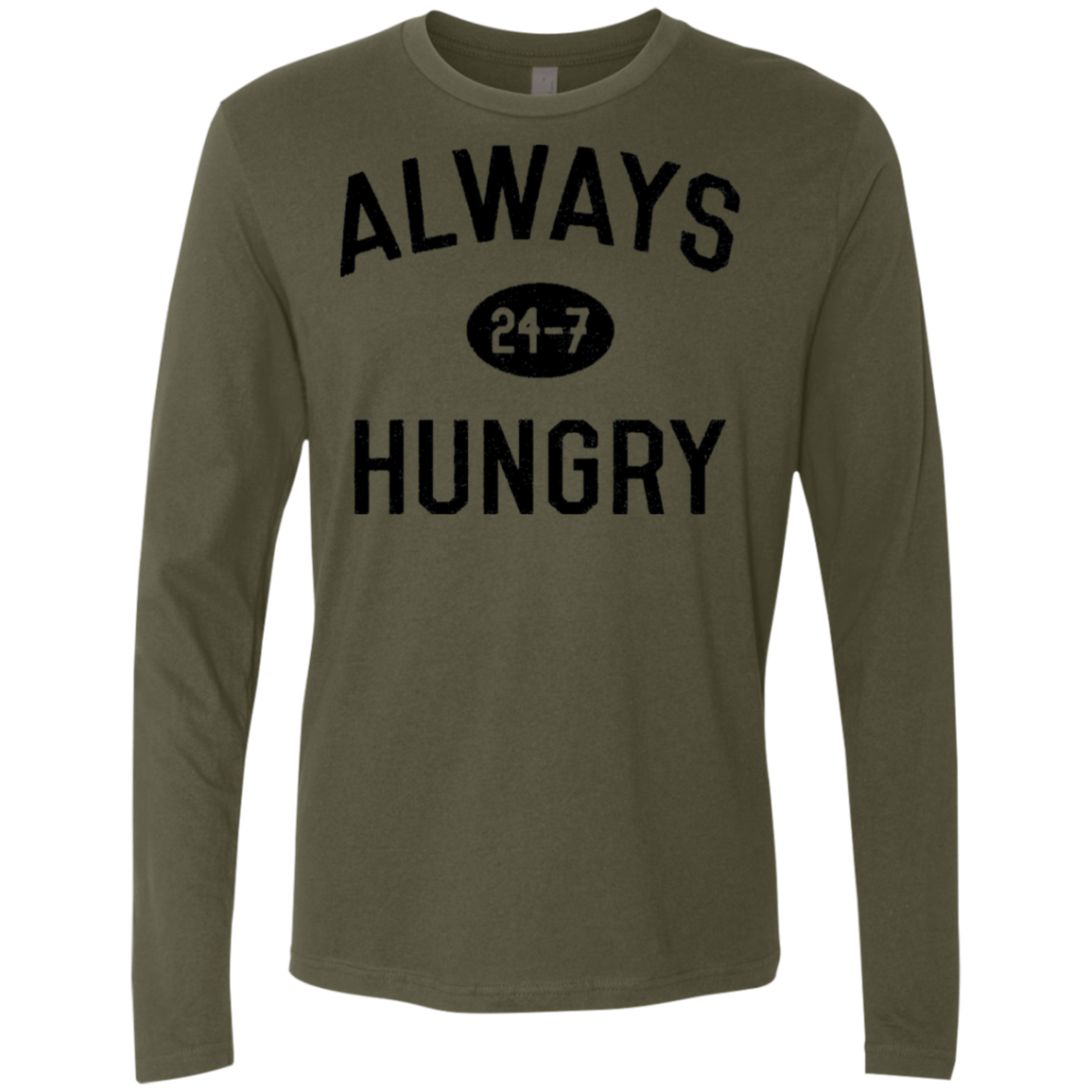Hungry 247 Men's Long Sleeve Tee - Trendy Tees