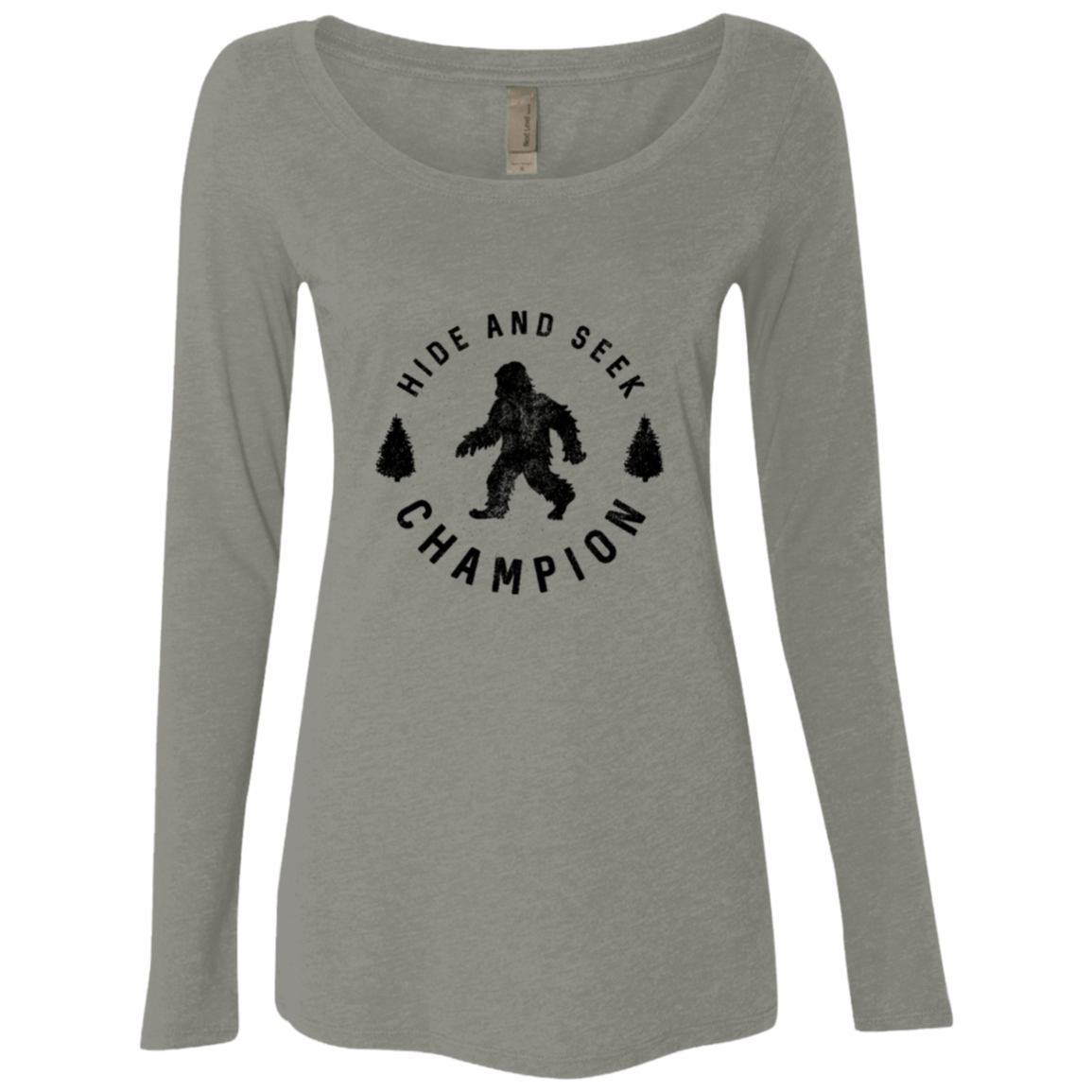 Hide and Seek Champion Big Foot Women's Long Sleeve Tee