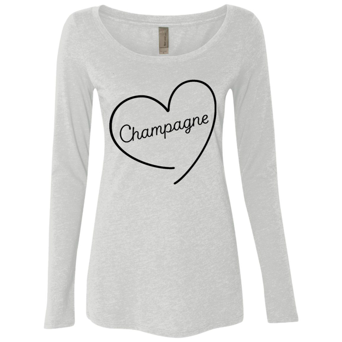 Champagne Love Women's Long Sleeve Tee - Trendy Tees