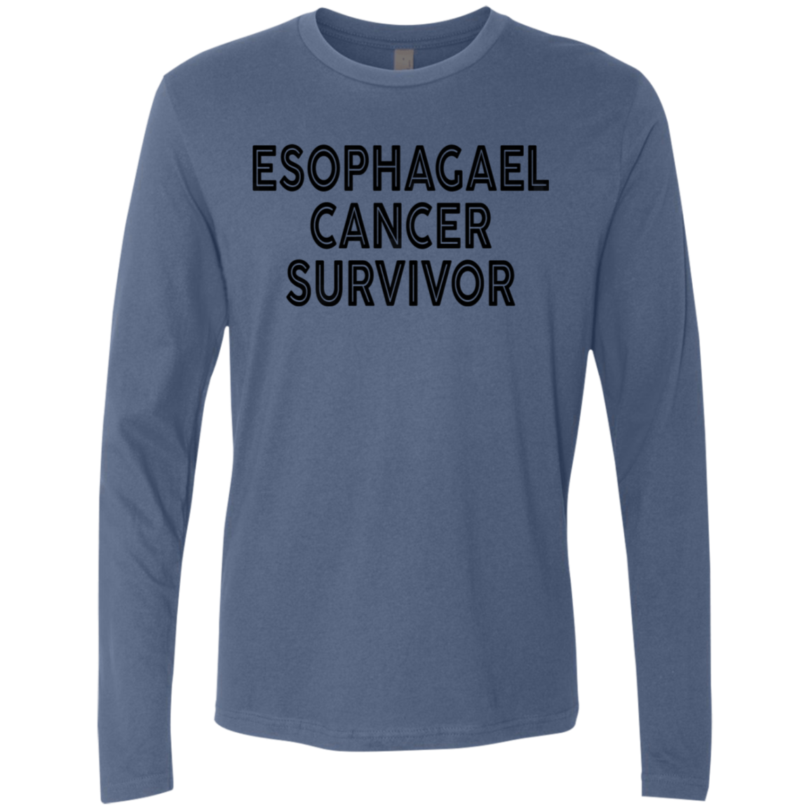 Esophagael Cancer Survivor Men's Long Sleeve Tee