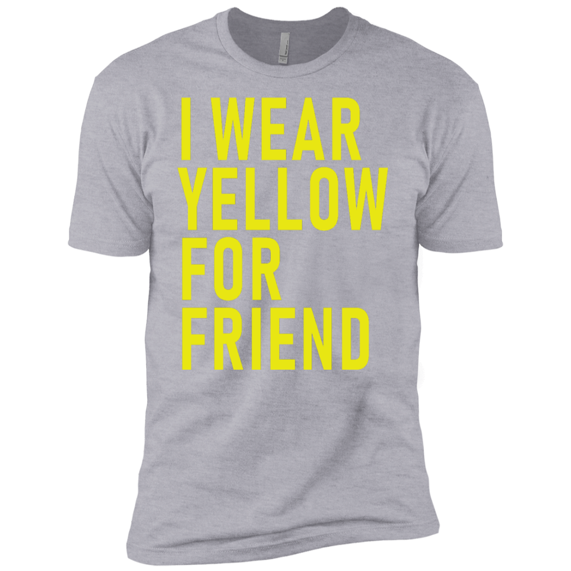 I Wear Yellow For Friend Men's Classic Tee