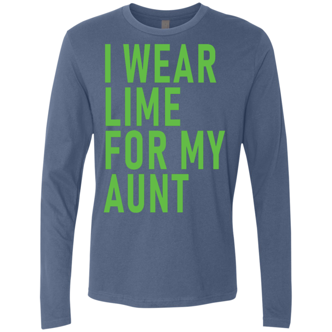 I Wear Lime For My Aunt Men's Long Sleeve Tee