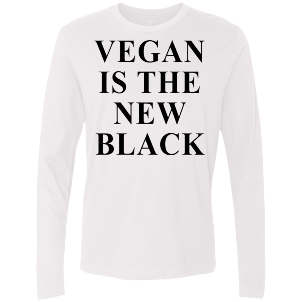 Vegan is the new Black Men's Long Sleeve Tee