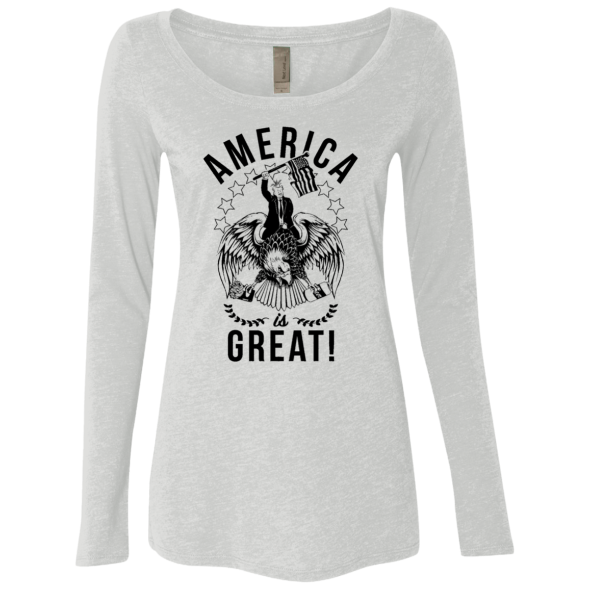 America is Great Trump Riding Eagle Women's Long Sleeve Tee
