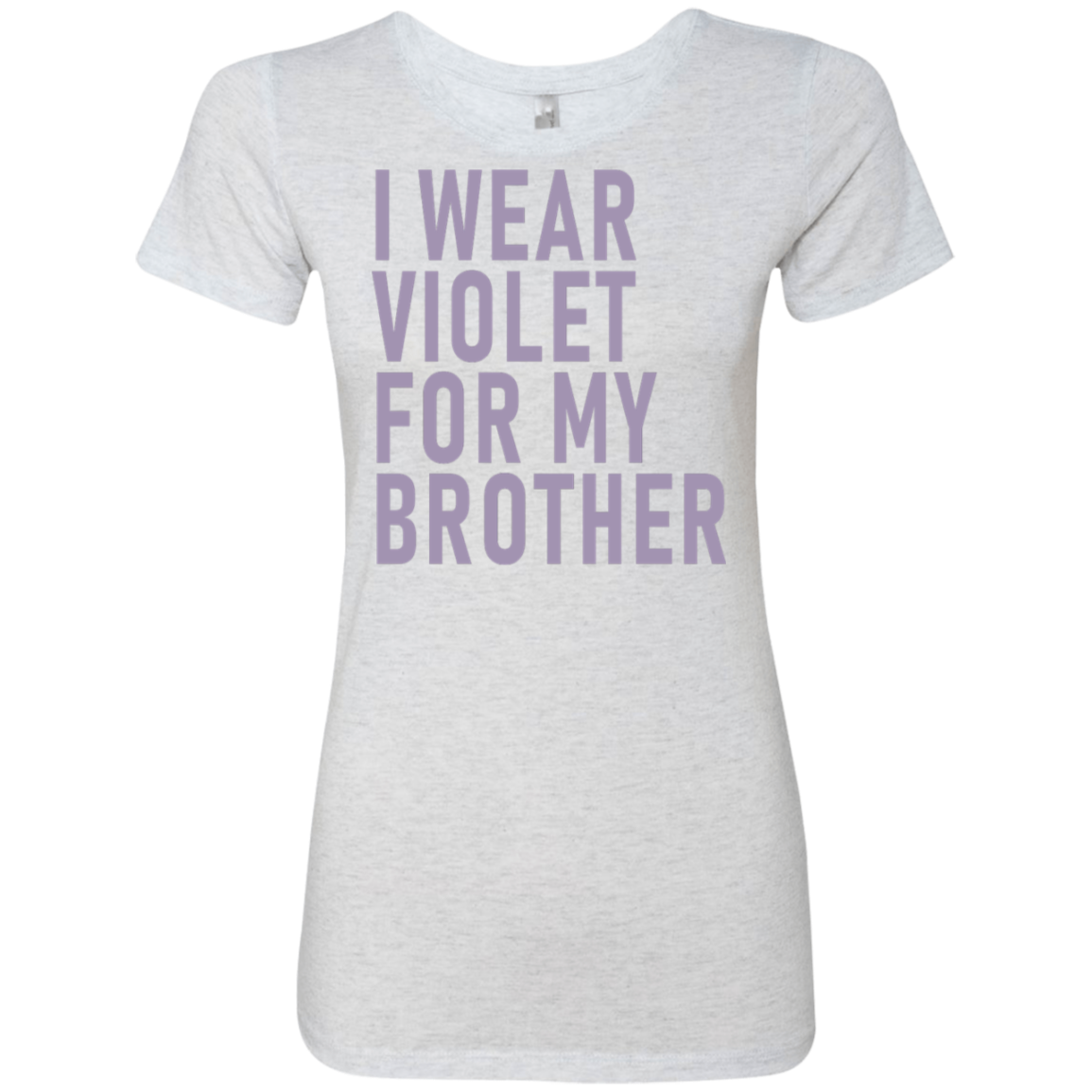 I Wear Violet For My Brother Women's Classic Tee