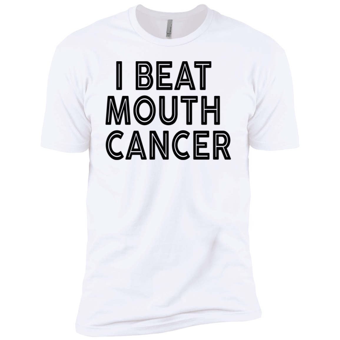 I Beat Mouth Cancer Men's Classic Tee