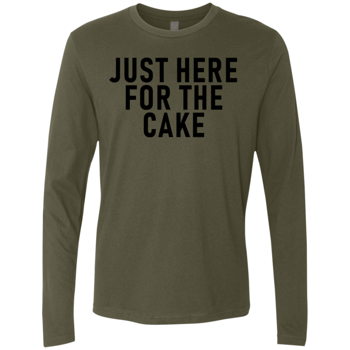 Just Here For The Cake Men's Long Sleeve Tee