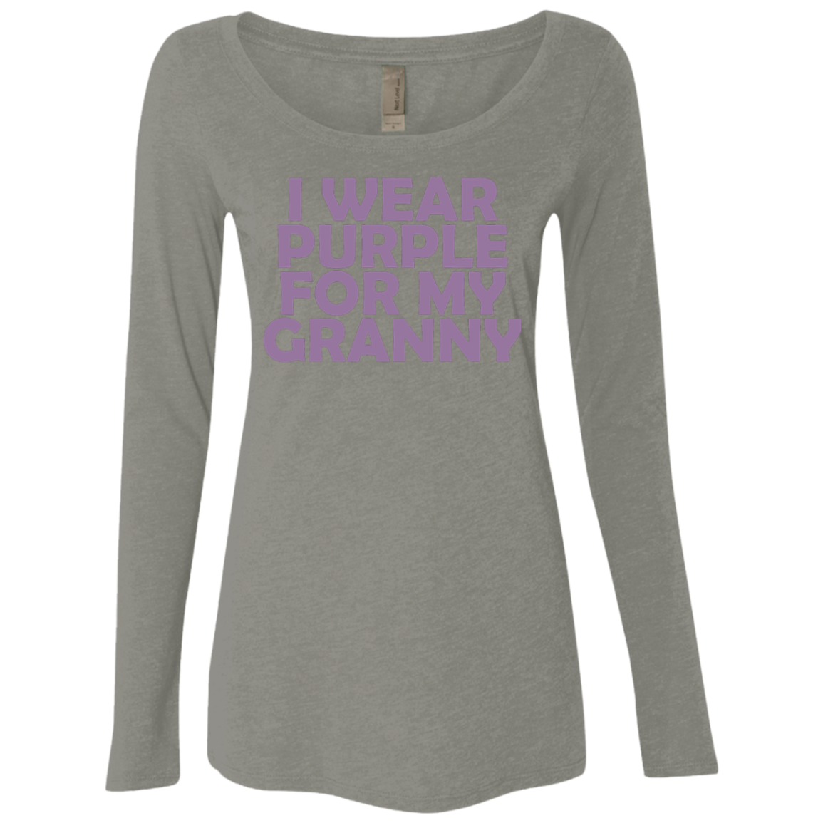 I Wear Purple For My Granny Women's Long Sleeve Tee