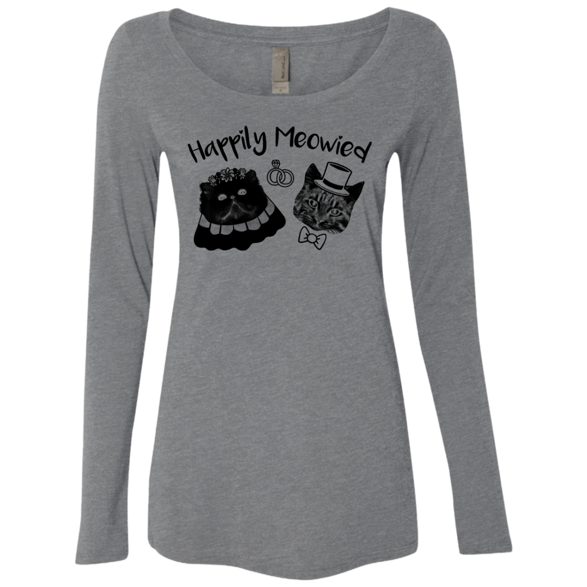 Happily Meowied Women's Long Sleeve Tee