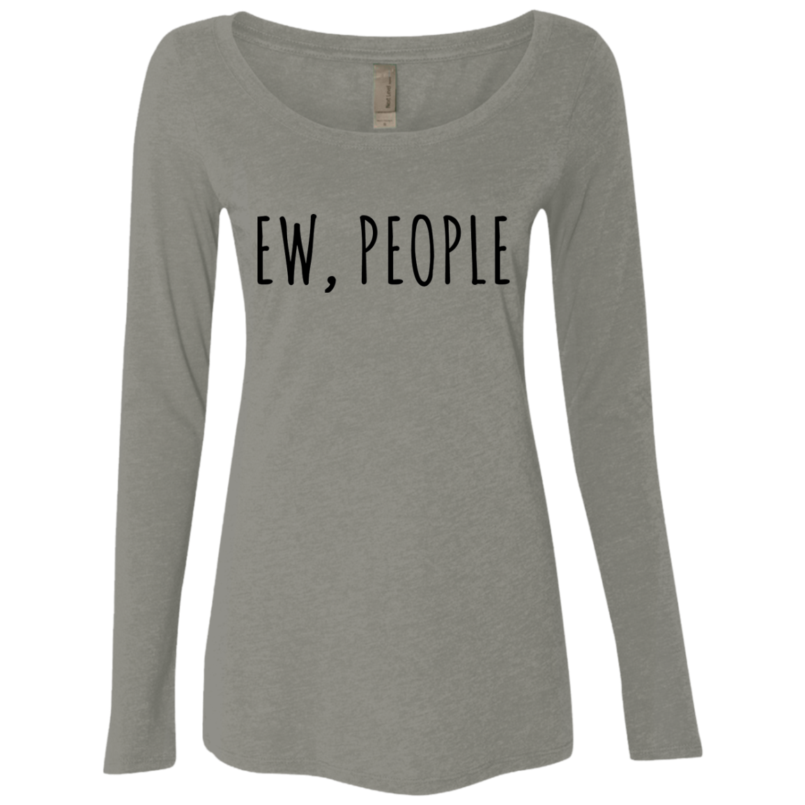Ew People Women's Long Sleeve Tee - Trendy Tees