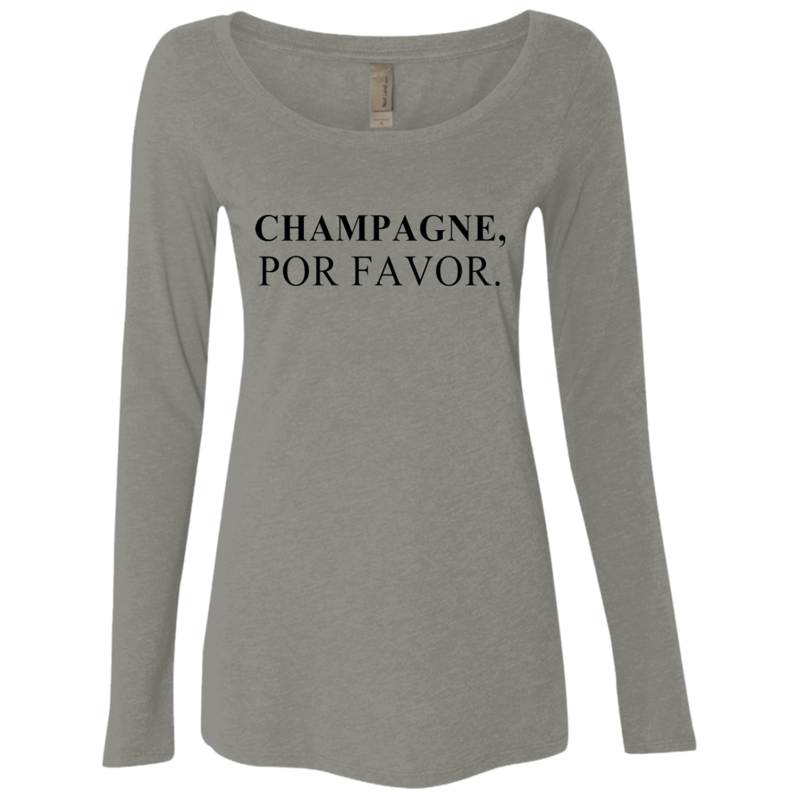 Champagne Por Favor Women's Long Sleeve Tee - Trendy Tees